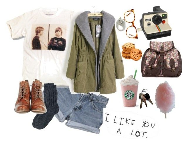 """""""♥"""" by moonisabell ❤ liked on Polyvore featuring Wrangler, Toast, H by Hudson, Polaroid, Madewell, T-shirt & Jeans, Cotton Candy, parca, starbucks and vintage"""