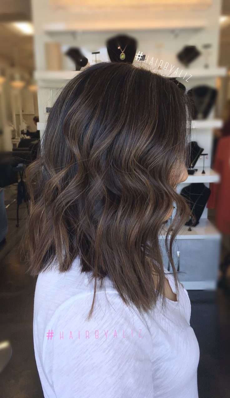 Rich Milk chocolate balayaged highlights and Babylights done by Ali Zabatta @ Industrial Glam San Pedro CA