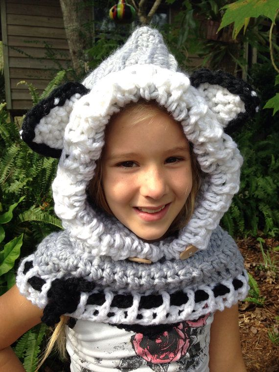 The Woodlyn Wolf Adult Hooded Cowl by LemonSprout on Etsy, $55.00