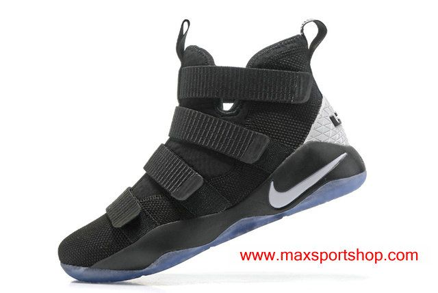 2017 Nike LeBron Soldier 11 Black White Basketball Shoes For Men