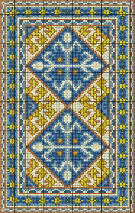 Gallery.ru / Фото #5 - Blue and Yellow Carpet - azteca