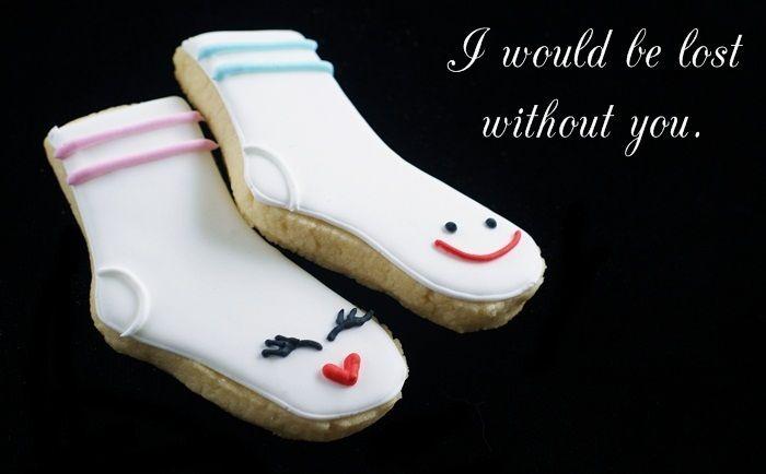 ~Cookies Ideas, Valentine Cookies, Socks Cookies, Sugar Cookies, Clever Cookies, Baking Ideas, Valentine'S Cookies, Valentine Ideas, 350