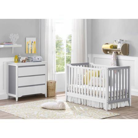 un cuarto de beb de color gris original y moderno