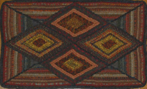 500 Best Rug Hooking Geometric Images On Pinterest Prim