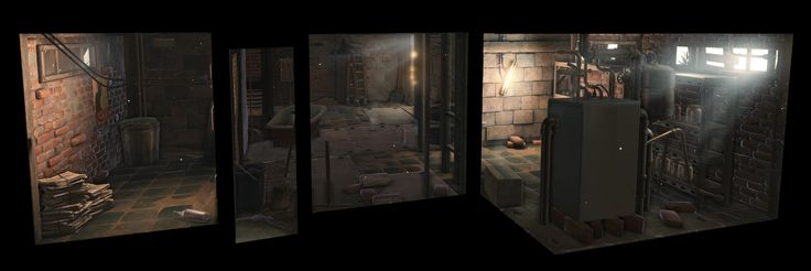 [UDK] Stylized basement - Polycount Forum