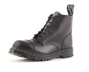 Gripfast 6 Eyelet Steel Toe Boot in Black
