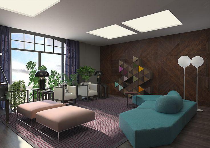 Салон-гостиная в современном стиле