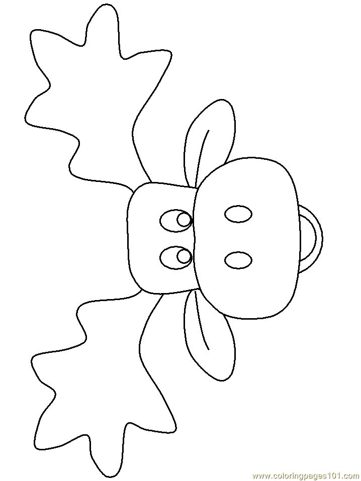 Coloring Pages Moose face (Mammals > Moose) - free printable