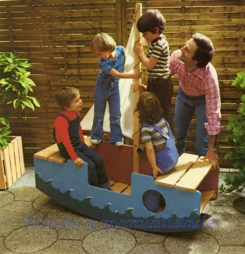 Croquis del barco que lleva acotadas las principales medidas de las piezas que integran el barco balancín, fácil de trasladar a escala natural en un papel