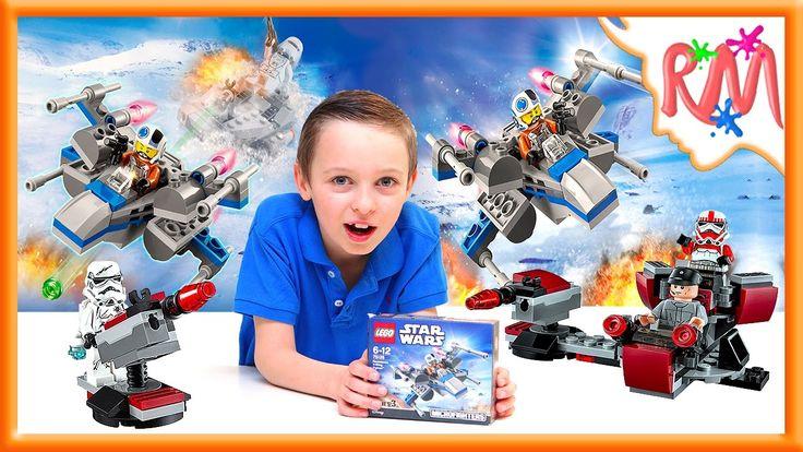 ЛЕГО Звёздные Войны Истребитель Повстанцев Икс-крыл 75125. Собираем Лего...
