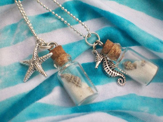 Beach In A Bottle Necklace by Meru's Handmade Haven