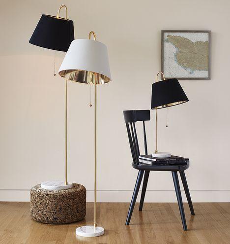 Stem table lamp