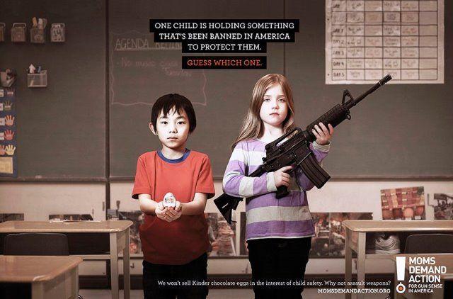 Iklan tentang penggunaan senjata