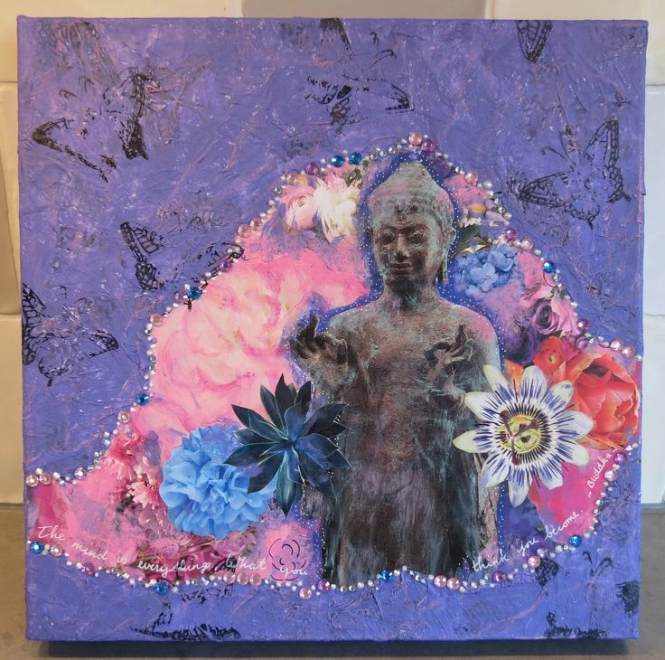 another Buddha collage painting