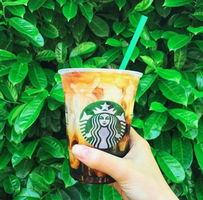 Iced Coconut milk Mocha Macchiato Starbucks