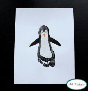 Pinguïn van voet