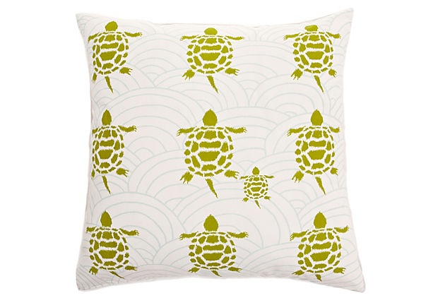 Turtles Pillow.: Feathers Insert, Cotton Pillows, All Studios, Cotton Covers, Throw Pillows, Insert Includeddimen, Turtles Pillows, Pillowconstruct Materials, Plush Feathers