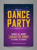 Dança festa Flyer, Banner, convite Ilustrações De Stock Royalty-Free