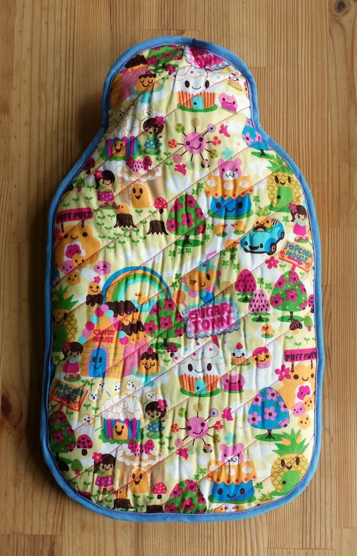 thREDhead: Quilted Hot Water Bottle Cover - A Quick Tutorial
