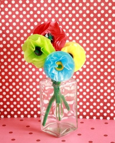 Tissue Paper Posy Flowers in a Vase