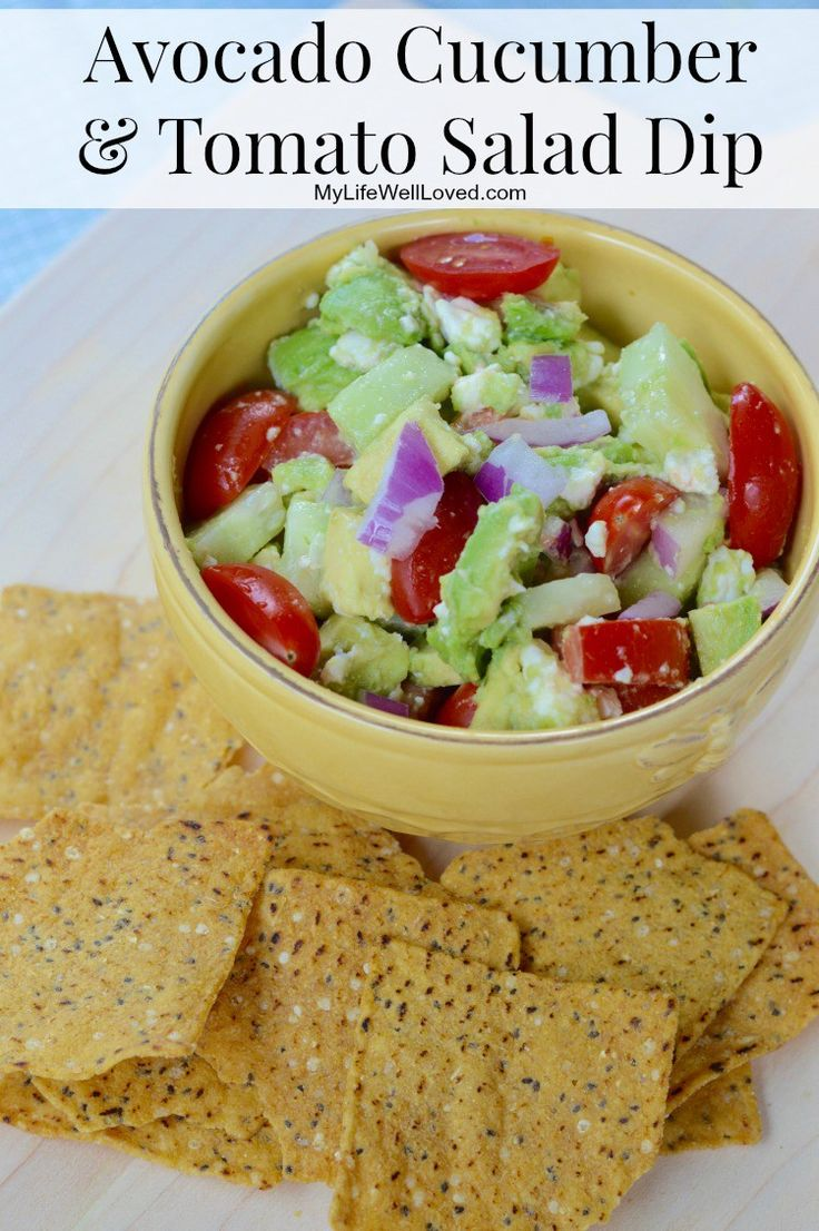 Avocado Cucumber Tomato Dip: Eat it plain as a salad or side or load ...