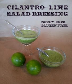 A Journey of O's and A's with Blood Type and Diet: Cilantro Lime Dressing for Type A's and O's