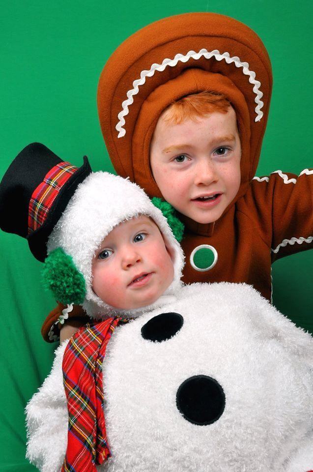Ginger bread boy and snow ball sister, Johnny and Alanna
