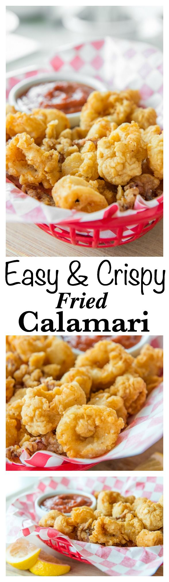 Crispy Fried Calamari is easy to make at home! This recipe gives the crispiest coating