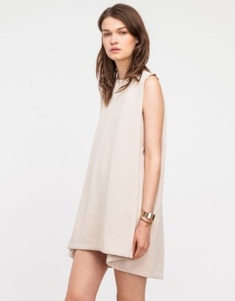 Minimal + Classic: Boatneck Open-back Dress