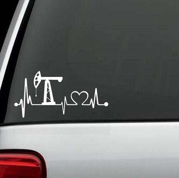 K1015 Oilfield Heartbeat Lifeline Decal Sticker by BluegrassDecals on Etsy https://www.etsy.com/listing/261752665/k1015-oilfield-heartbeat-lifeline-decal