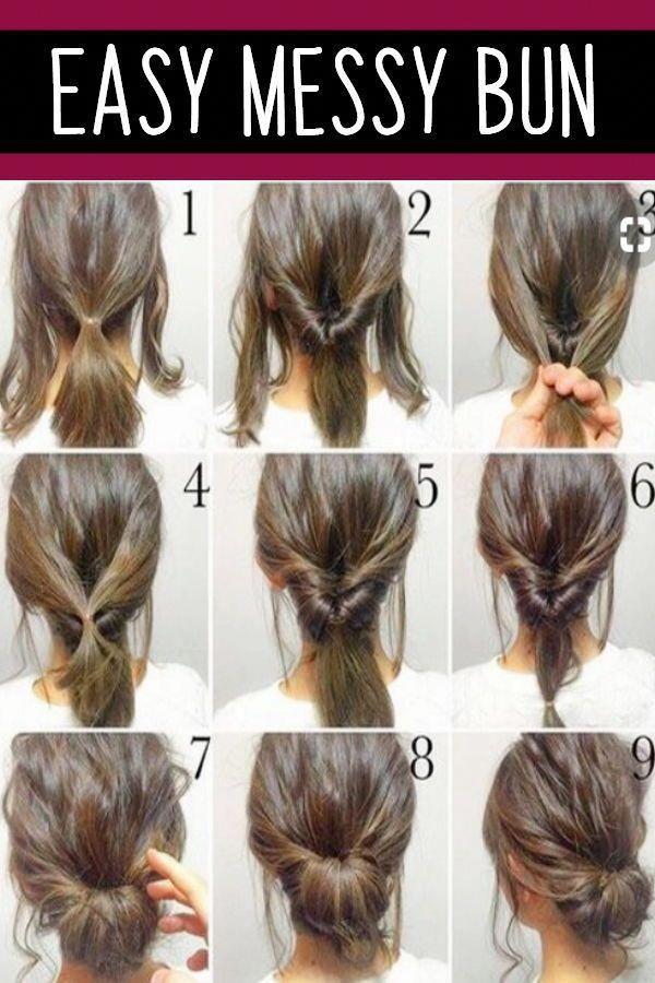 Trendy Easy Hair Styles Easyhairstyles Hair Styles Messy Bun Hairstyles Long Hair Styles
