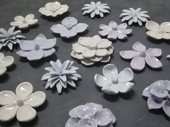 18 Flower Blossom Sculptures NUR AUF KUNDENSPEZIFISCHE BESTELLUNG Machen Sie …   – Flores cerâmicas