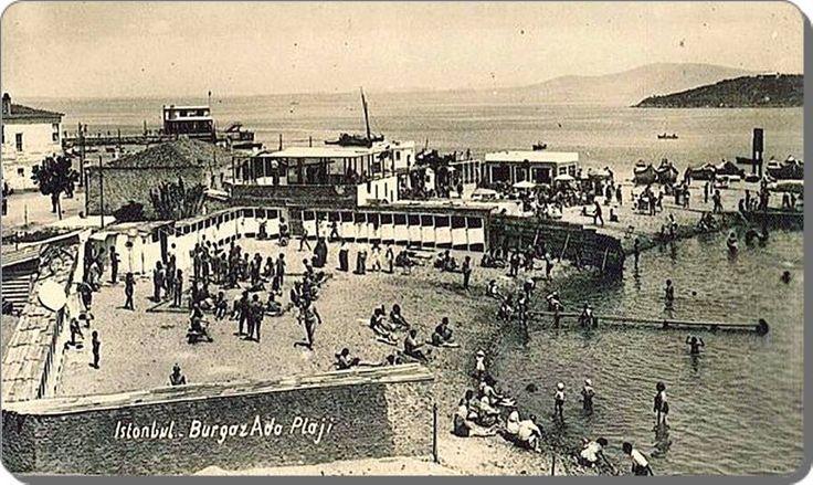 Burgazada plajı - 1940 lar