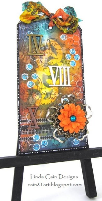 FRIENDS in ART: Mixed Media Tag with Finnabair Embellishments from Prima