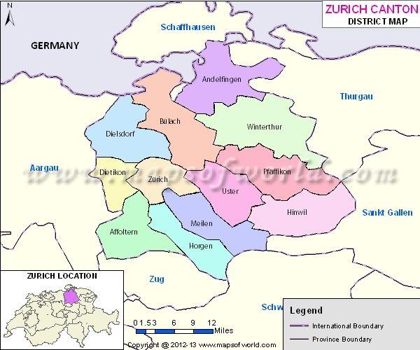 Zurich Map Switzerland Map Zurich Map Switzerland