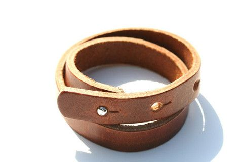 double wrap cuff - tan