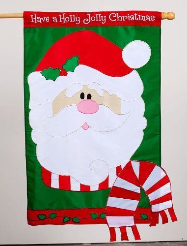 Flag, Reg, Have a Holly Jolly Christmas by Evergreen. $27.60. Decorative outdoor house flag - Applique flag - Any words can be read from both sides