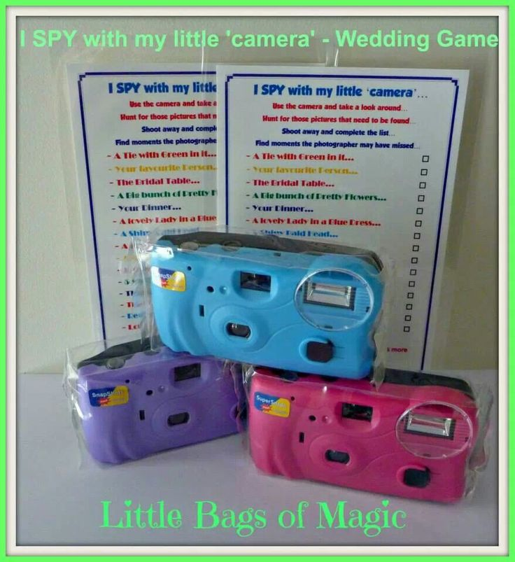 Eye spy wedding game for kids and teens