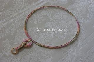 Customized crochet necklace - gepersonaliseerde gehaakte ketting | Ineseda