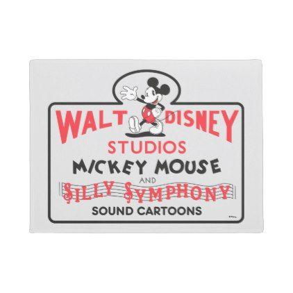 #Vintage Walt Disney Studios Doormat - #doormats #home & #living