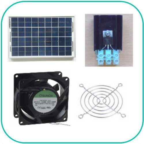 Ventilations kit med solcelle (SOLCELLE og VENTILATOR) KCVM10