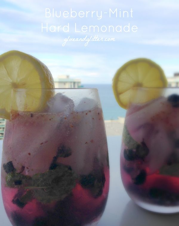 Blueberry-Mint Hard Lemonade: Mash Mash Sip