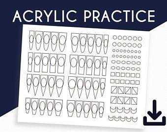 Acrylic bead pick up practice sheet | Etsy