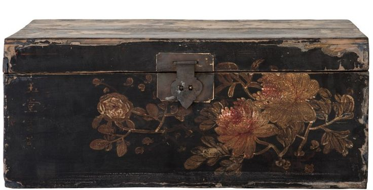 Gansu Hand Painted Trunk #Weylandts #Entertaining