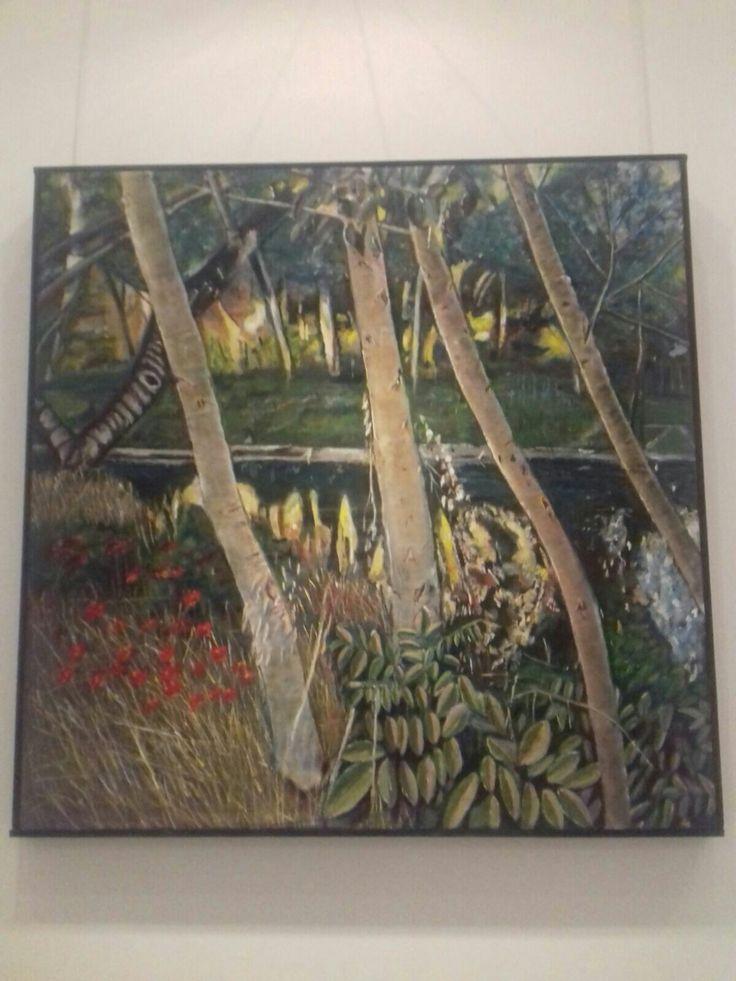 Pintando en el río