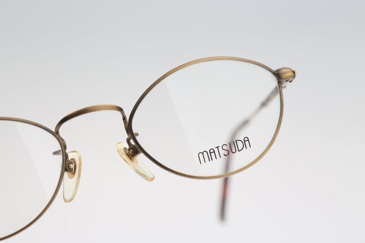 Vintage oval eyeglasses, Matsuda 2874 – 90s unisex optical frame / NOS – Vintage… – Brillen Modelle