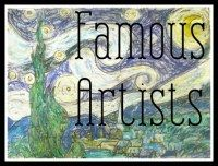 Da Vinci, Michelangelo and more ~ Famous Artists Wall Chart! | Practical Pages