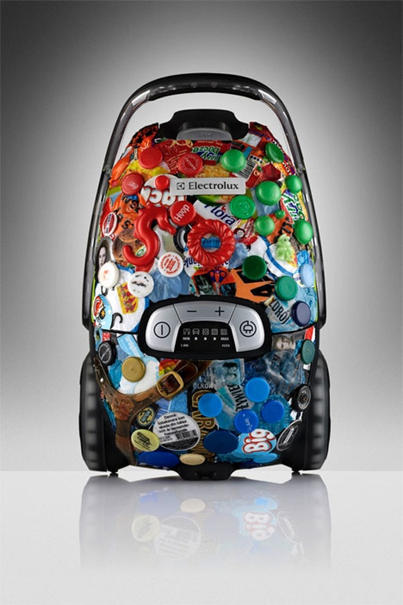 Electrolux recycled plastic prototype, 'vac from the sea' project