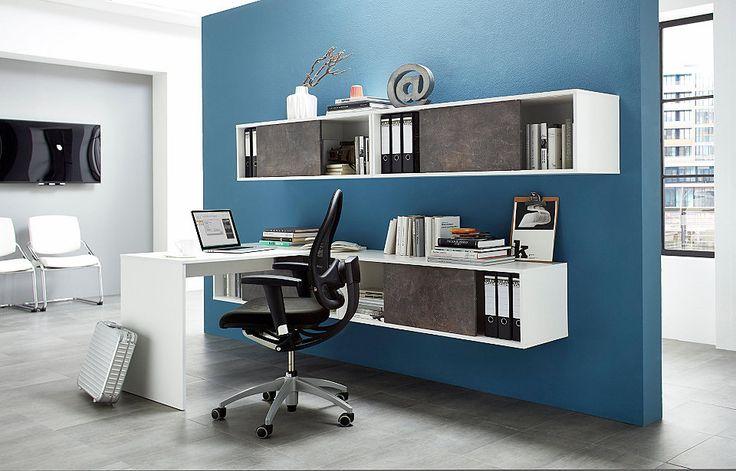 Germania Büromöbel-Set »Altino« (5-tlg.) für 599,99€. Pflegeleichte Oberfläche, Ideal für kleine Räume, Bietet viel Stauraum, Made in Germany bei OTTO