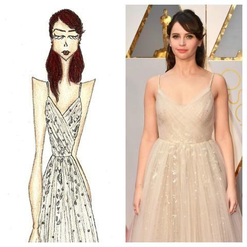Felicity Jones - Dior Oscars 2017
